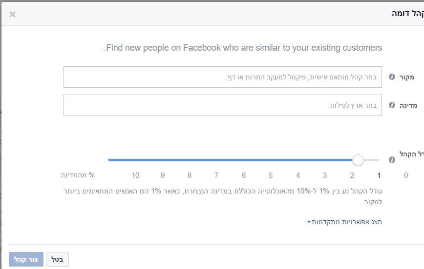 קהל דומה בפייסבוק