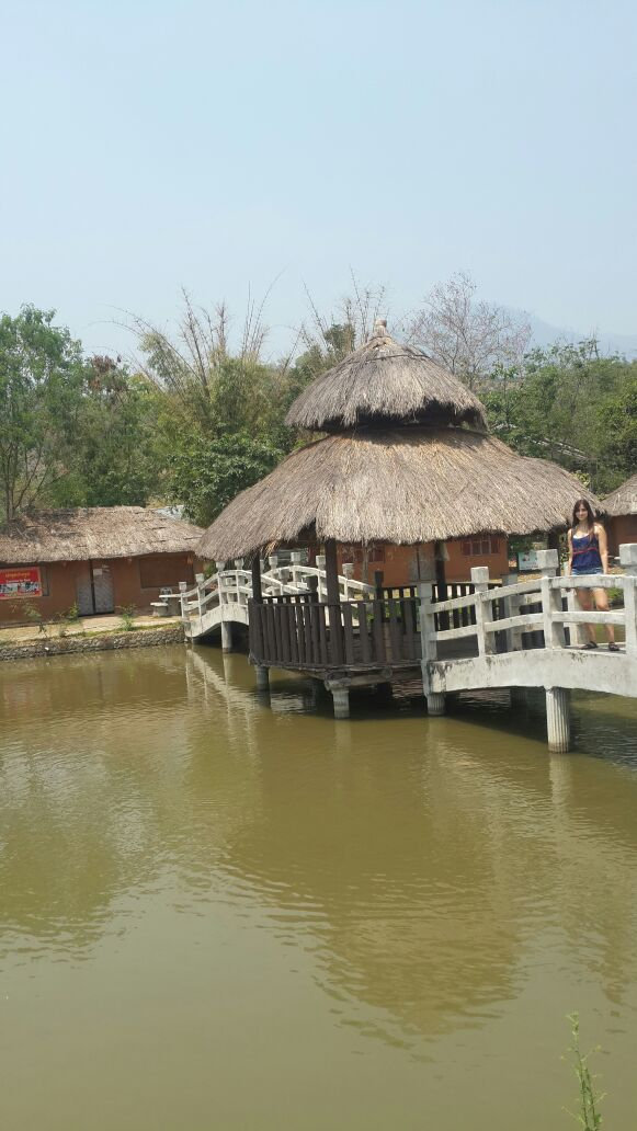 Santichon Chinese Village - Lake with a lot of fishes