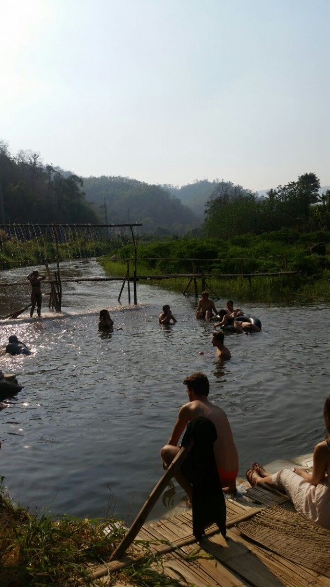The Bamboo Bridge River In Pai